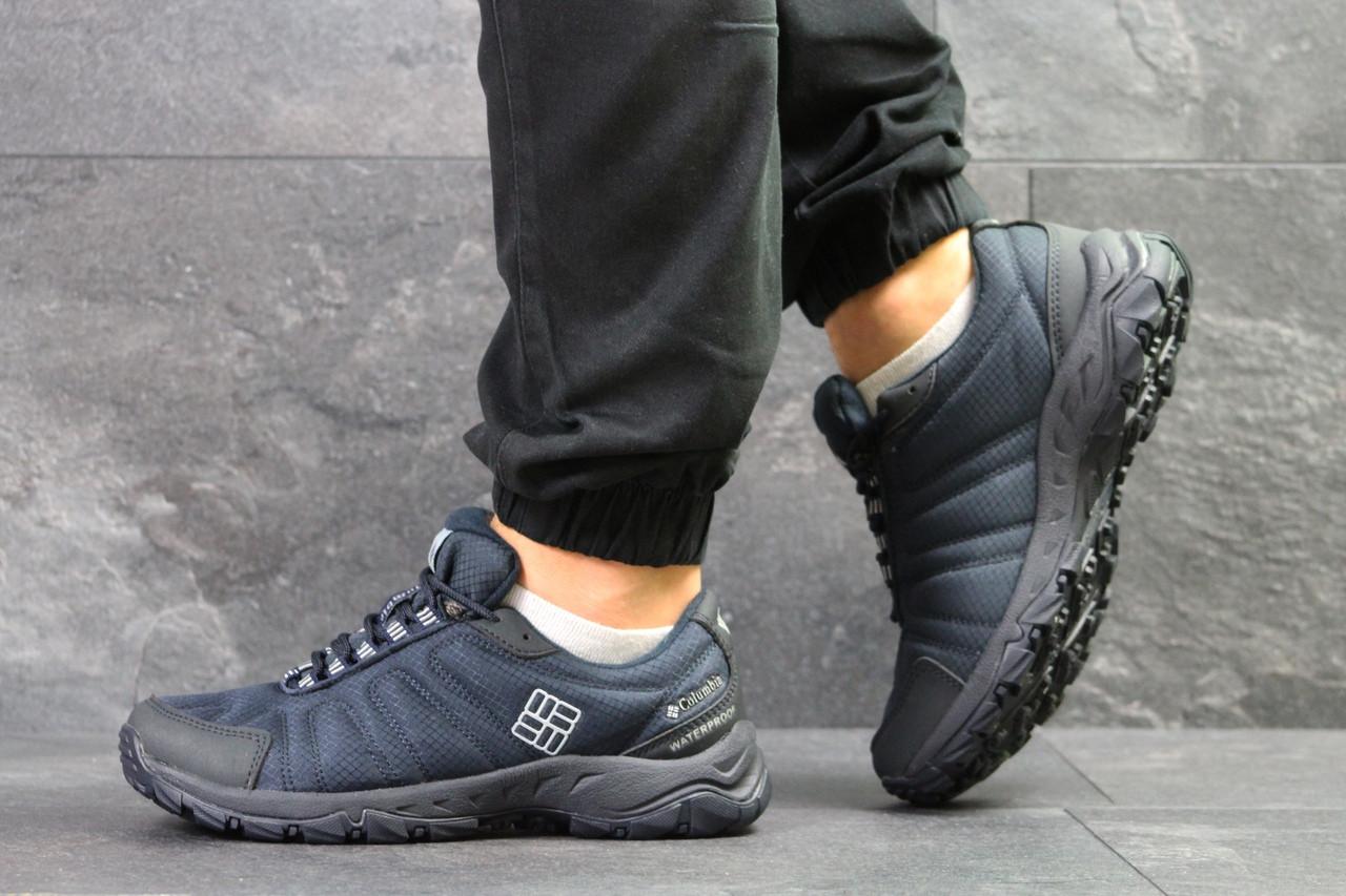 Мужские термо кроссовки Columbia,темно синие 42,43р
