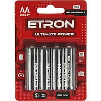 Аккумуляторы Etron Ultimate Power Ni-Cd (R-06,800 mAh) / блистер 4 шт (4)