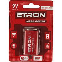Батарейка Etron Mega Power Алкалайновые 6LR61 / 1bl 9 V крона (12)