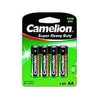 Батарейки Camelion green R-06 / блистер 4 шт (12) (240)