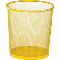 Корзина для бумаги Zibi ZB.3126-08 круглая металлическая желтая