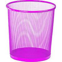 Корзина для бумаги Zibi ZB.3126-10 круглая металлическая розовая