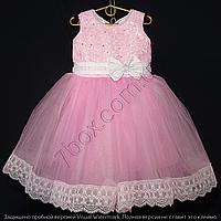 Детское платье бальное Марго (Розовое) Возраст 4-5 лет., фото 1