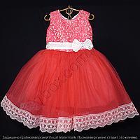 Детское платье бальное Марго (Коралл) Возраст 4-5 лет., фото 1