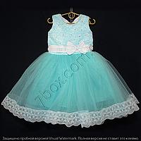 Детское платье бальное Марго (мята) Возраст 4-5 лет., фото 1