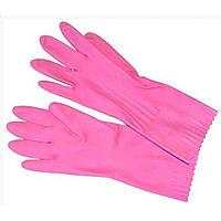 """Перчатки резиновые """"Помощница"""" L розовые (144) №8 / 9005"""
