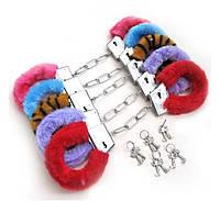 Меховые наручники любимым разные цвета