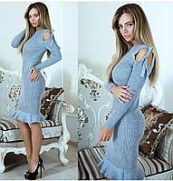 """Женское вязаное платье """"колокольчик"""", фото 1"""