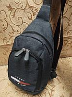 (31*17.5-мал)Барсетка tommy Томм слинг на грудь мессенджер 600d Унисекс/Cумка спортивные для через плечо(ОПТ), фото 1
