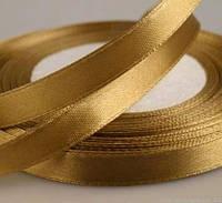 Лента атласная золотистая 15 мм (25 ярдов)