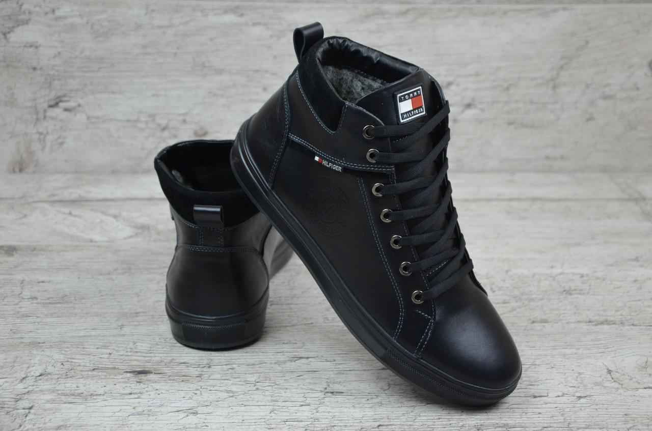 7fad22bde Мужские зимние ботинки Tommy Hilfiger черные (Реплика ААА+) - купить ...