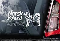 Норвежский Бухунд стикер