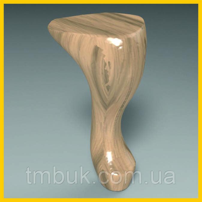 Изготовление резных гнутых ножек на ЧПУ. Для шкафов, тумб, комодов, деревянной и мягкой мебели. 150 мм