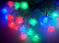 Новогодняя Светодиодная Гирлянда Нить Розы 28LED Мульти