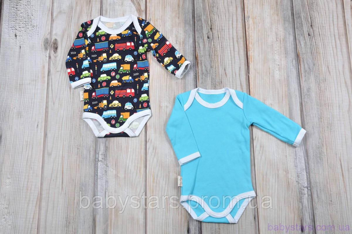 """Боди с длинным рукавом для новорожденных мальчиков, набор """"Cars"""", размеры: 56, 62, 68, 74, 80"""