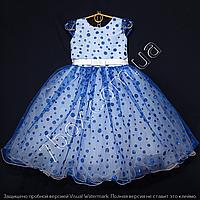 Детское платье бальное Крапинка (Синее) Возраст 4-5 лет., фото 1