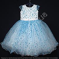 Детское платье бальное Крапинка (Голубое) Возраст 4-5 лет., фото 1