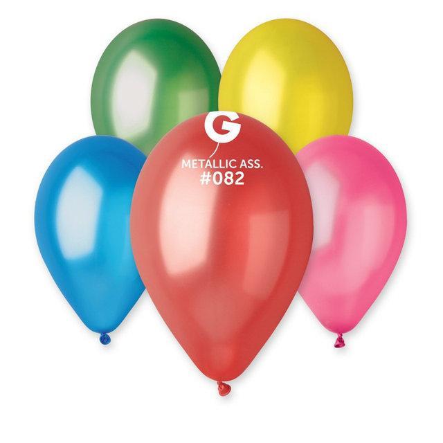 Воздушные шары металик ассорти  26 см  Италия 100шт