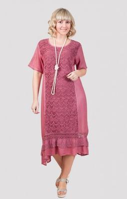 Платье женское с ажурным украшением