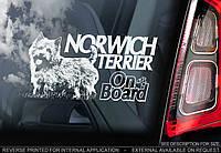 Норвичский терьер стикер, фото 1