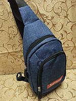 (31*17.5-мал)Барсетка Supreme слинг на грудь мессенджер 600d Унисекс/Cумка спортивные для через плечо(ОПТ) , фото 1