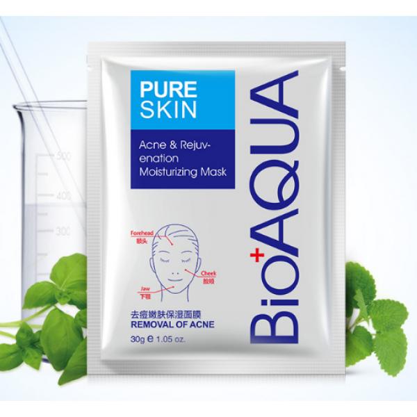 Набор масок для лица 3 шт. Bioaqua Pure Skin Acne - от прыщей и воспалений для проблемной кожи 30g