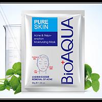 Набор масок для лица 3 шт. Bioaqua Pure Skin Acne - от прыщей и воспалений для проблемной кожи 30g, фото 1