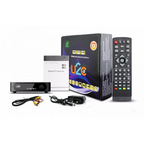 Цифровая TV приставка Т2 U2C, ТВ тюнер HD DVB-T2 Wi-Fi, цифровое tv, ресивер с флешкой Т2, Разъем HDMI USB 2.0