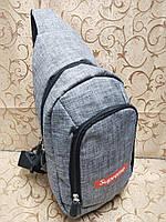 (36*18-большое)Барсетка Supreme слинг на грудь мессенджер 600d Унисекс/Cумка спортивные для через плечо(ОПТ) , фото 1
