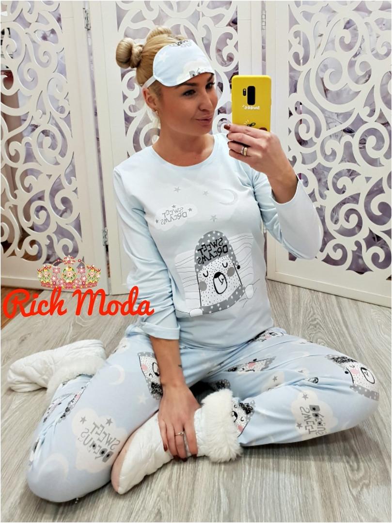 debbde7c65068 Женская теплая пижама на байке Турция зима 2019 - Интернет-магазин