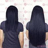 Слов'янські волосся на капсулах 60 см. Колір #Чорний, фото 5