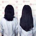 Слов'янські волосся на капсулах 60 см. Колір #Чорний, фото 6