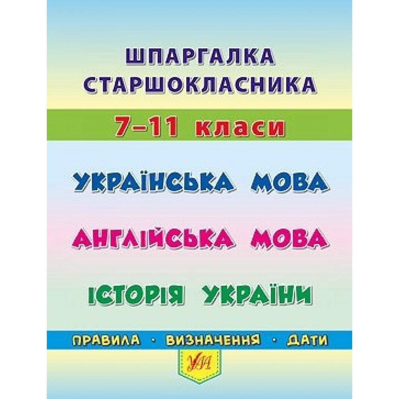 З укр.мови шпаргалки