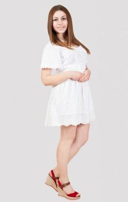 Платье женское летнее с прошвой