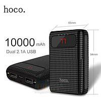 Внешний аккумулятор (Power Bank) Hoco Mige 10000mAh, 2xUSB, фонарик, цифровой индикатор, фото 1