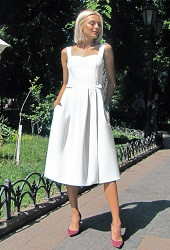Платье-сарафан белое Viravi Wear, модель 1011