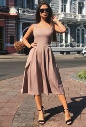 Платье-сарафан кофе Viravi Wear, модель 1011