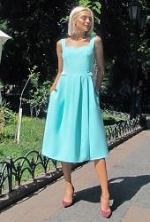 Платье-сарафан мята Viravi Wear, модель 1011