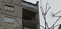 Резка ограждения на 16 этаже Харьков.