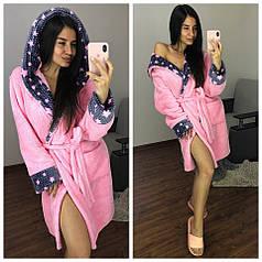 Жіночий дуже теплий халат плюшевий