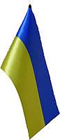 Флажок Украины шелк, 10х20 см