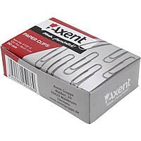 Скрепки 50мм Axent 4102 круглые никелированные 100 шт.