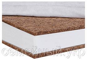 Детский матрас в кроватку Aloe Vera Comfort Elite - 10 см. (кокос, полиуретан, кокос) белый, фото 2