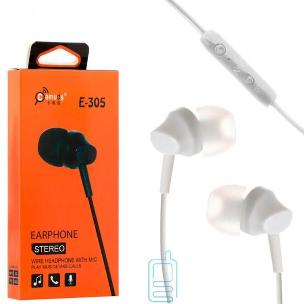 Наушники с микрофоном Camudy CD-E305 белые