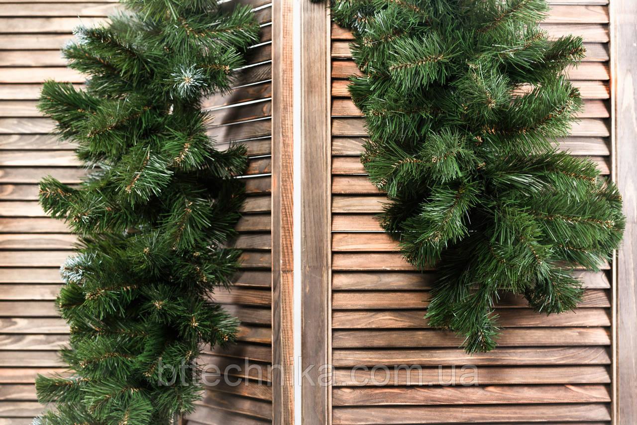 Хвойна гірлянда зелена пвх 3 м