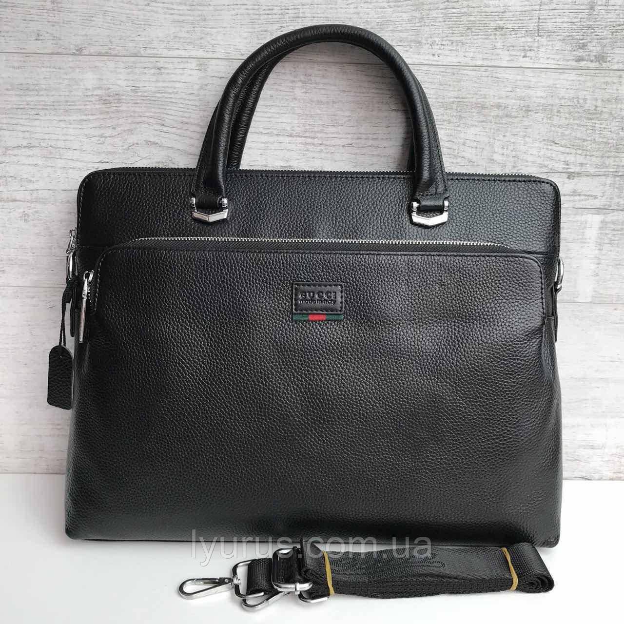 Портфель сумка кожаная  Gucci