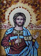 Ікона Святого Артемія з бурштину