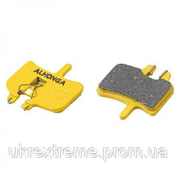 Колодки дисковые ALHONGA HJ-DS01 Hayes совместимые для механических и гидравлических тормозов, organic (ОРИГИНАЛ)