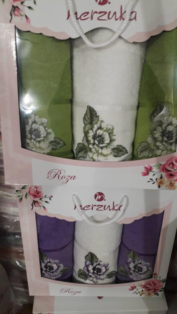 Комплект полотенец  в упаковке 3 в 1