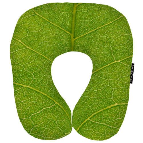 Дорожная подушка Зеленый листик 32x30 см (DOP_16J092)